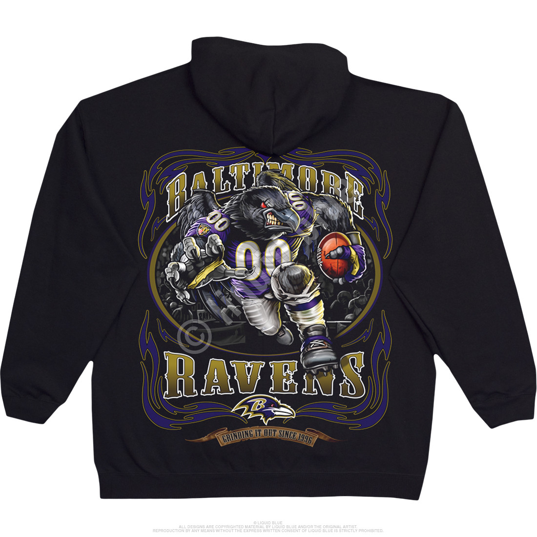 Baltimore Ravens Running Back Black Hoodie