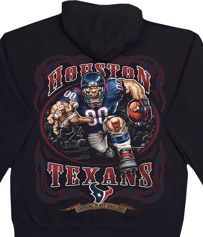 NFL Houston Texans Running Back Black Hoodie Liquid Blue