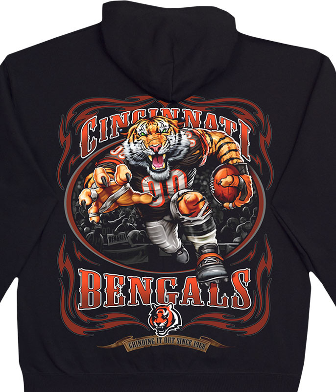 NFL Cincinnati Bengals Running Back Black Hoodie Liquid Blue