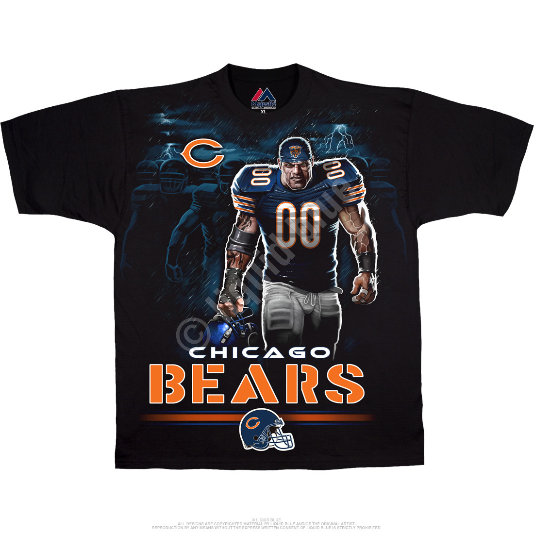 Chicago Bears Tunnel Black T-Shirt