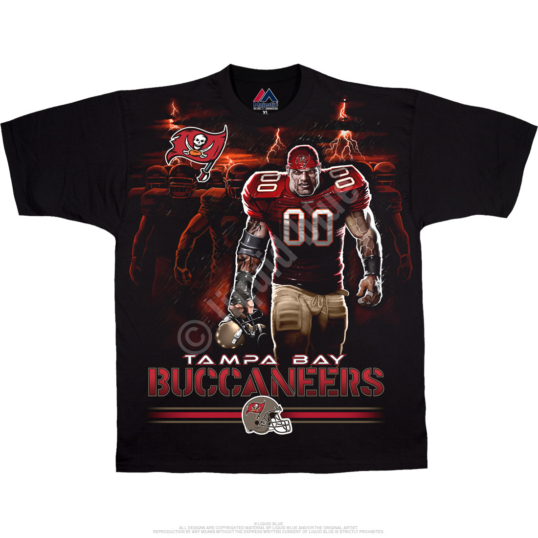 Tampa Bay Buccaneers Tunnel Black T-Shirt
