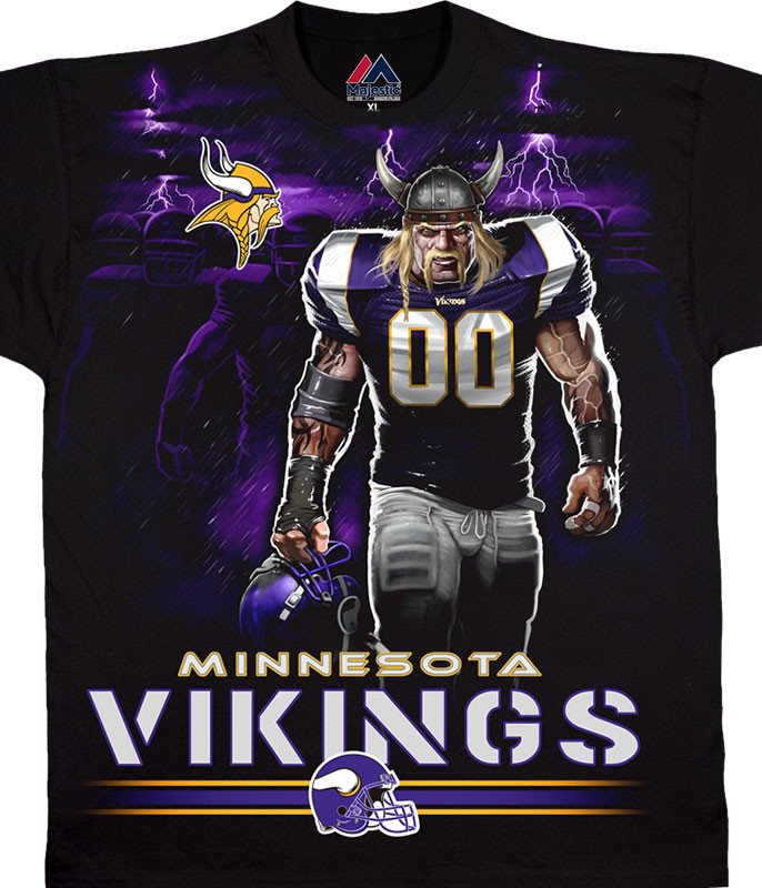 MINNESOTA VIKINGS TUNNEL BLACK T-SHIRT