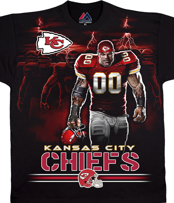 KANSAS CITY CHIEFS TUNNEL BLACK T-SHIRT