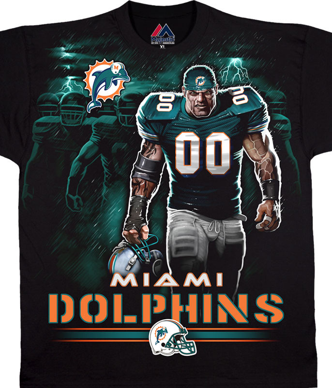 MIAMI DOLPHINS TUNNEL BLACK T-SHIRT