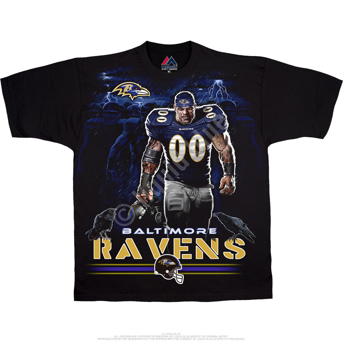 Baltimore Ravens Tunnel Black T-Shirt