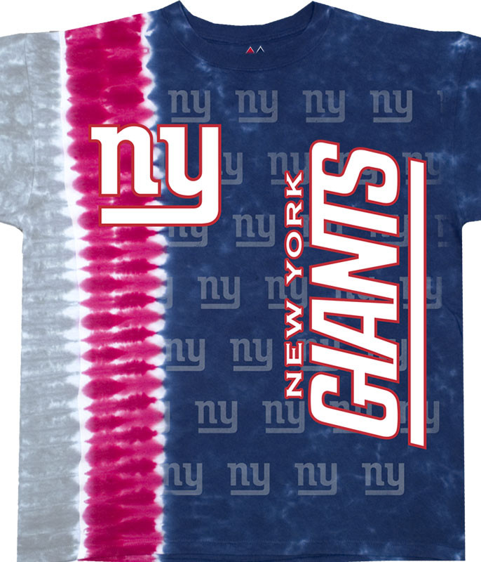 NFL New York Giants Vertical Tie-Dye T-Shirt Tee Liquid Blue