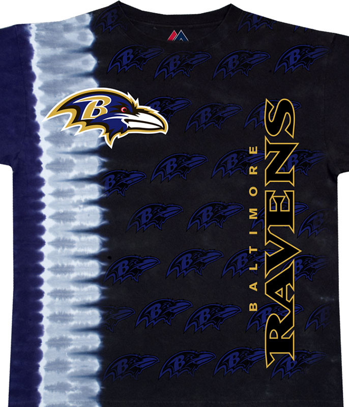 Baltimore Ravens Vertical Tie-Dye T-Shirt