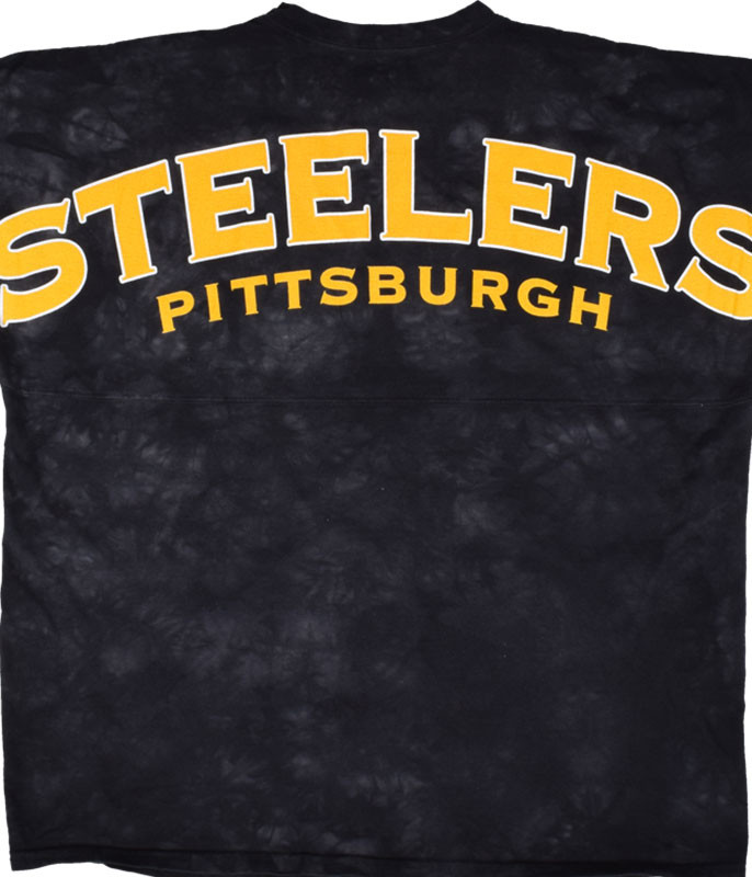 NFL Pittsburgh Steelers Gridiron Tie-Dye Boyfriend Jersey Liquid Blue
