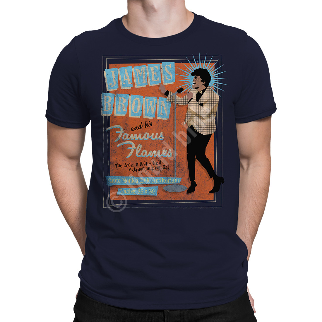 Famous Flames Navy Athletic T-Shirt