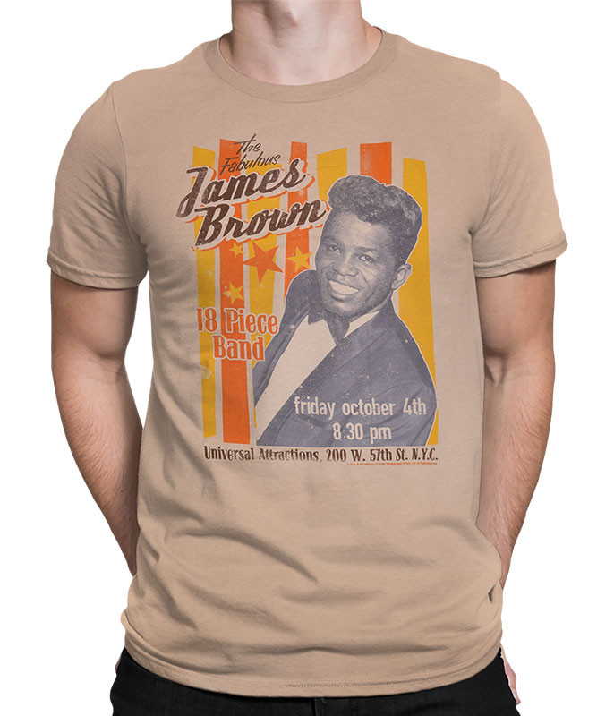 FABULOUS JAMES BROWN TAN ATHLETIC T-SHIRT