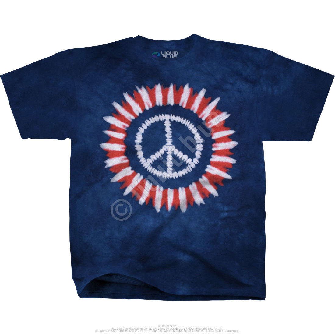 Peace Concentric Tie-Dye T-Shirt