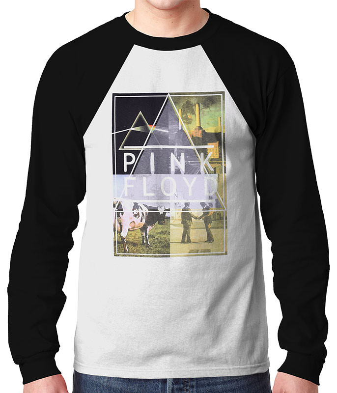 Pink Floyd Classics Long Sleeve T-Shirt Tee Liquid Blue