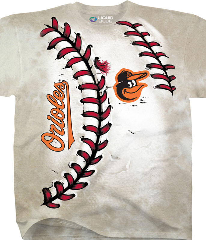 MLB Baltimore Orioles Youth Hardball Tie-Dye T-Shirt Tee Liquid Blue