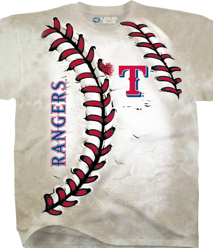 MLB Texas Rangers Youth Hardball Tie-Dye T-Shirt Tee Liquid Blue