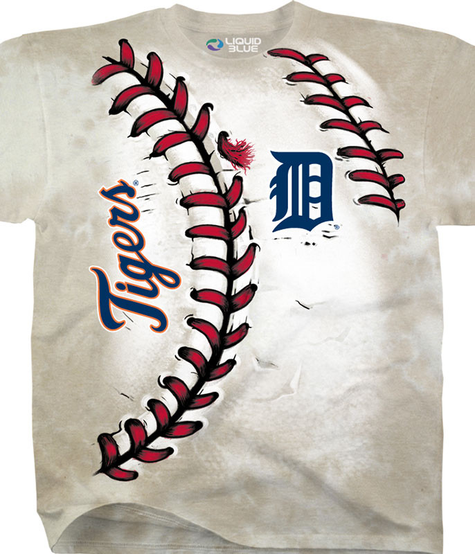 MLB Detroit Tigers Youth Hardball Tie-Dye T-Shirt Tee Liquid Blue