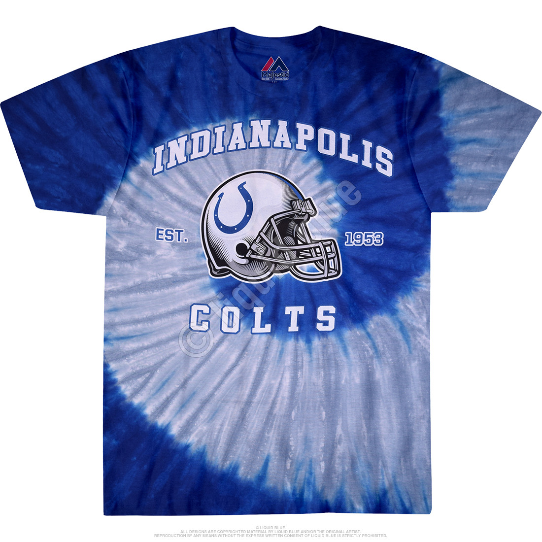 Indianapolis Colts Spiral Tie-Dye T-Shirt