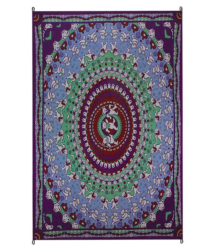 Grateful Dead Bear Purple Tapestry