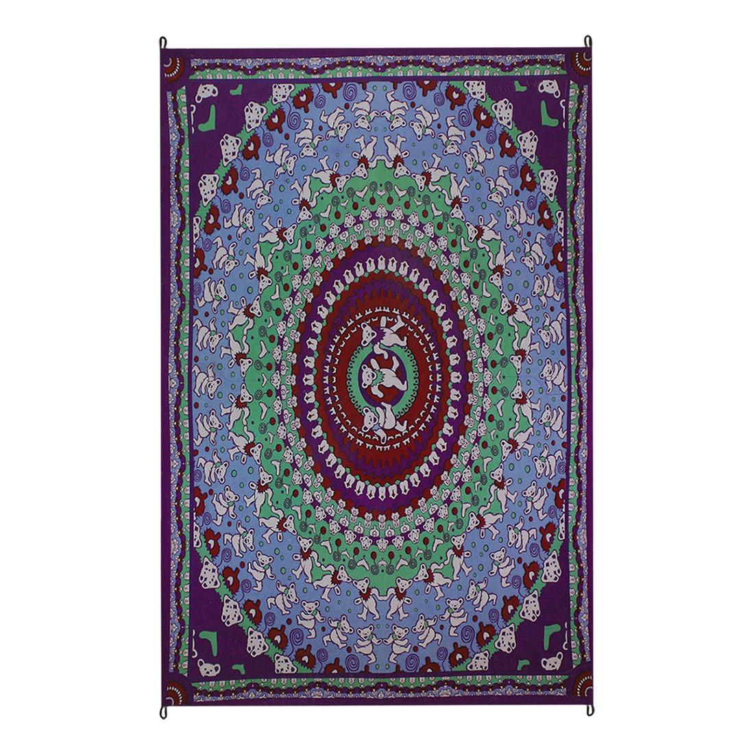 Bear Purple Tapestry