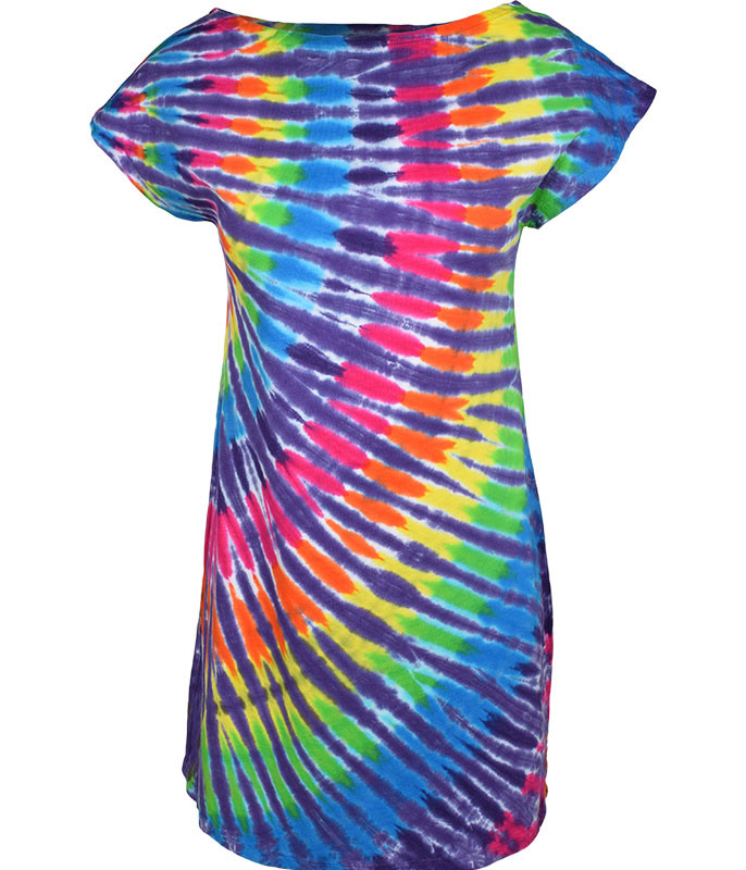 6baec0bbf39ab Unprinted Rainbow Purple Streak Unprinted Womens Tie-Dye Sundress ...