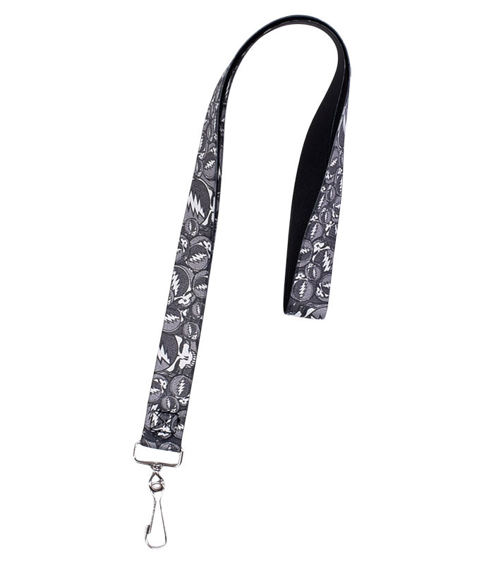 Grateful Dead GD SYF Black and Gray Collage Lanyard