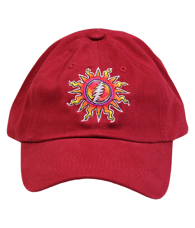 Grateful Dead Sunshine Lightning Red Hat