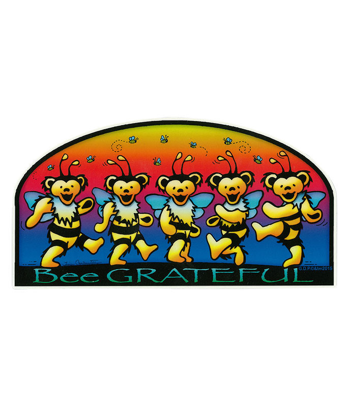 Grateful Dead GD Bee Grateful Sticker