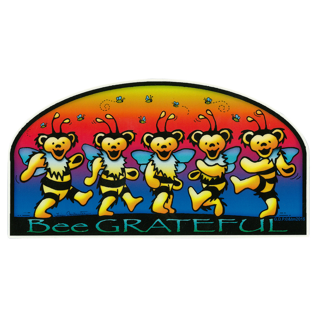 GD Bee Grateful Sticker