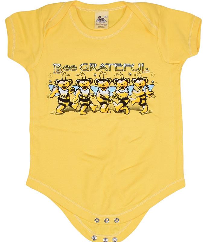 GD Bee Grateful Yellow Onesie