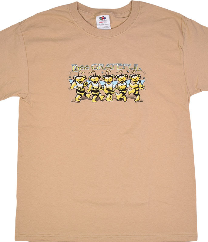 Grateful Dead GD Bee Grateful Youth Tan T-Shirt Tee