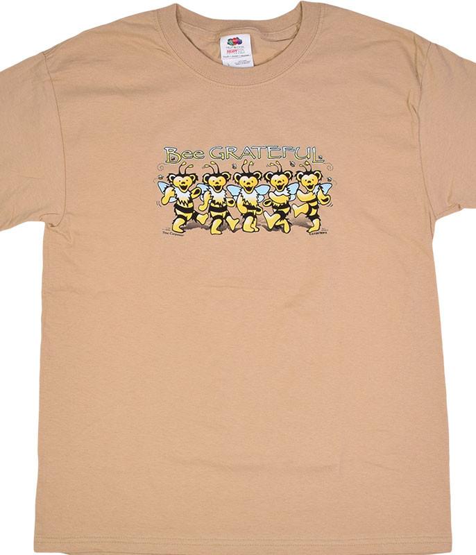 Grateful Dead GD Bee Grateful Youth Tan T-Shirt Tee