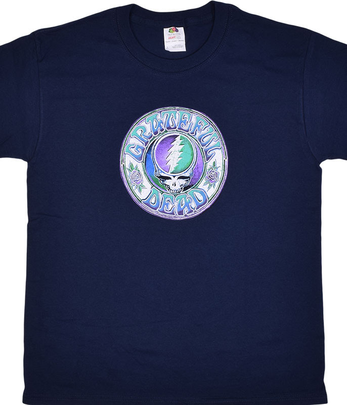 Grateful Dead GD Batik SYF Youth Navy T-Shirt Tee