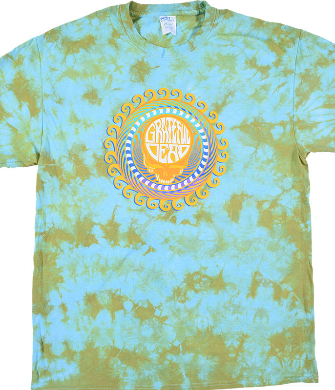 Grateful Dead GD Orange Sunshine Tie-Dye T-Shirt Tee