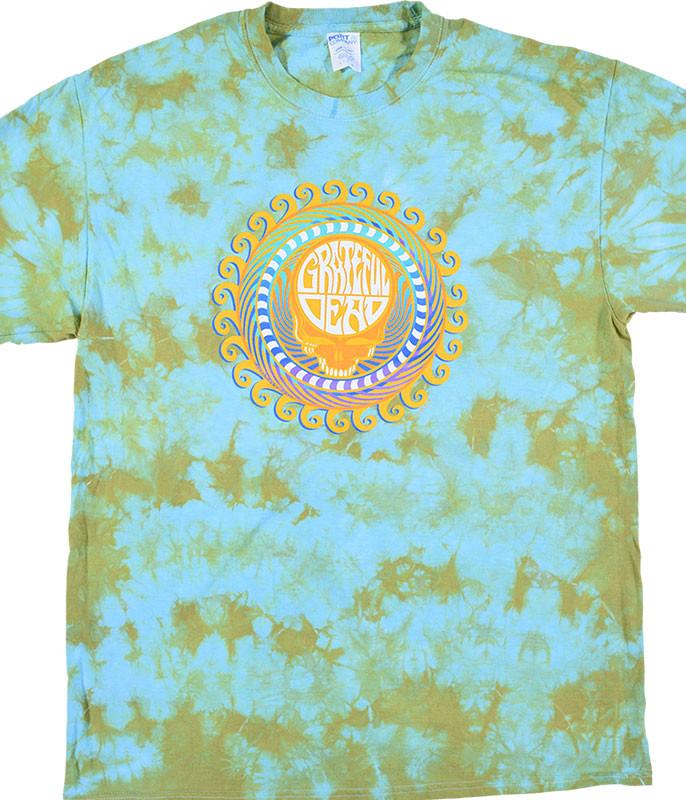 Grateful Dead GD Orange Sunshine Tie-Dye T-Shirt Tee