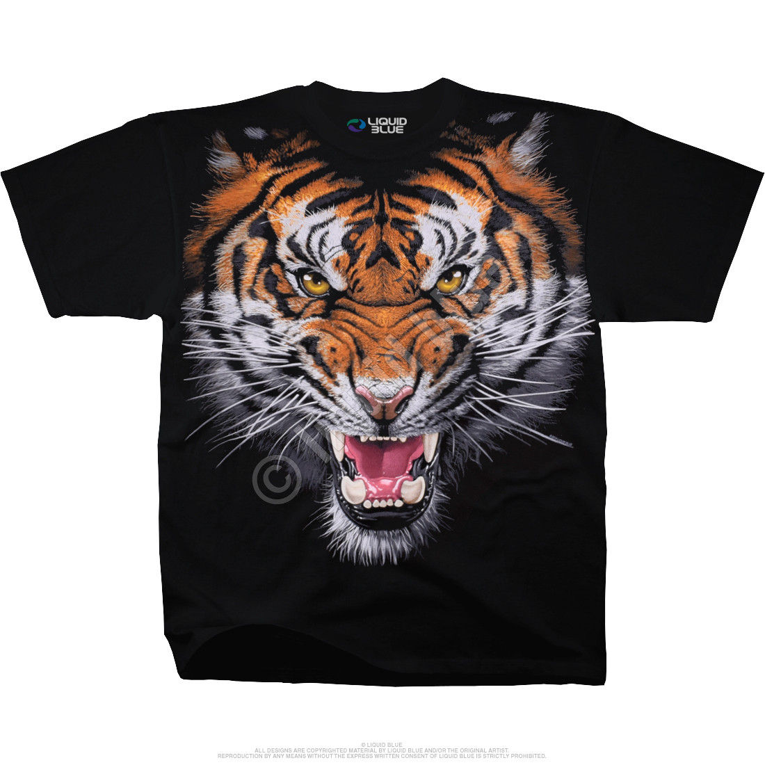 Tiger Face Black T-Shirt