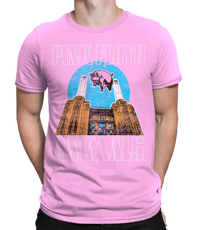 Pink Floyd Animals Pink T-Shirt Tee Liquid Blue