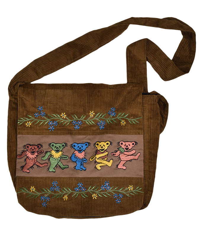 Grateful Dead GD Dancin Bear Embroidery Bag Assorted