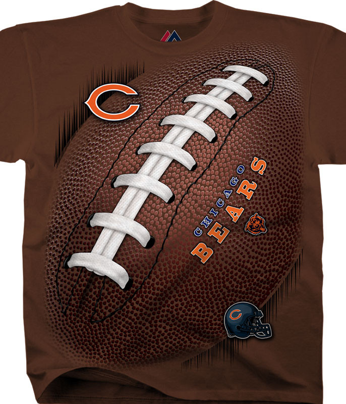 NFL Chicago Bears Kickoff Tie-Dye T-Shirt Tee Liquid Blue