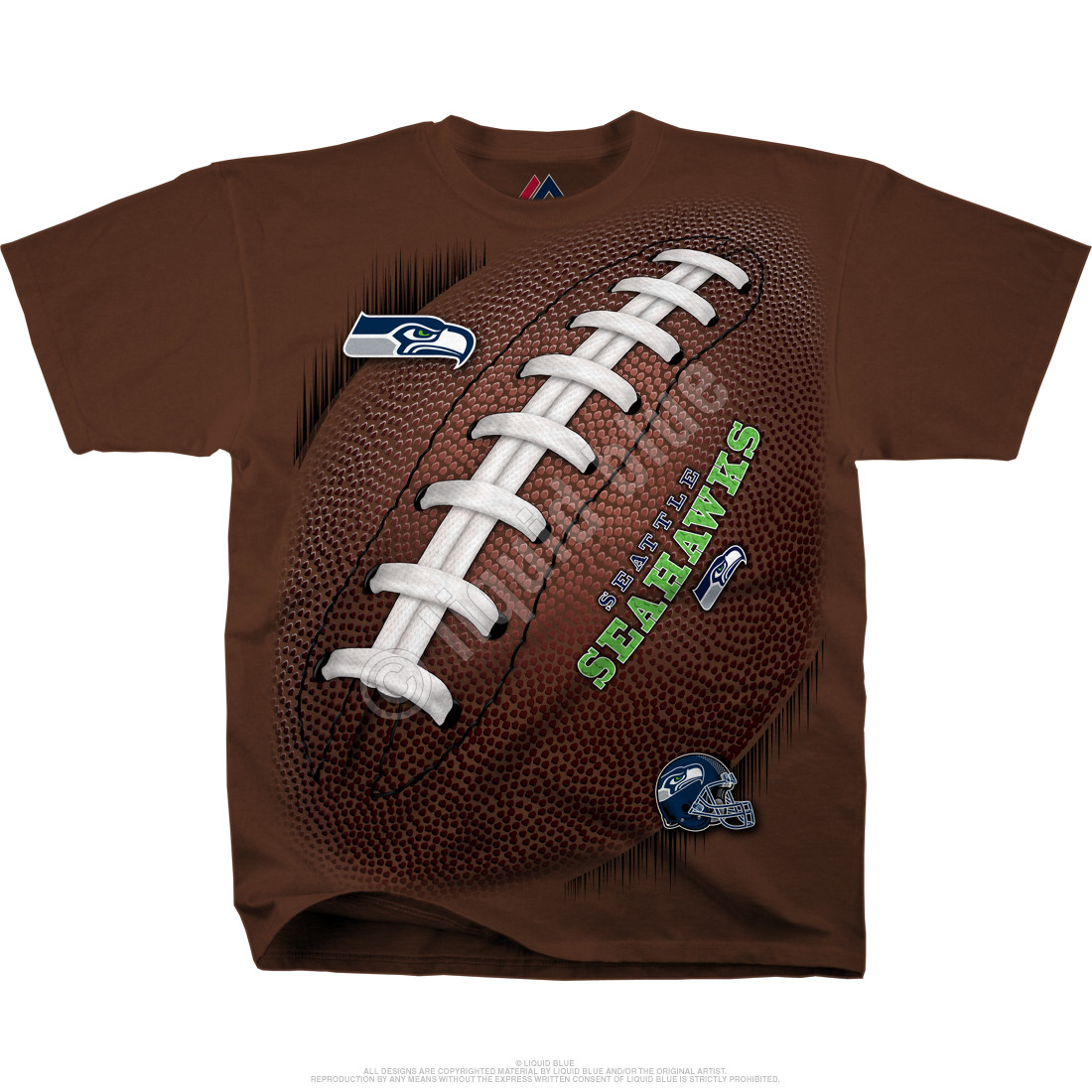 Seattle Seahawks Kickoff Tie-Dye T-Shirt