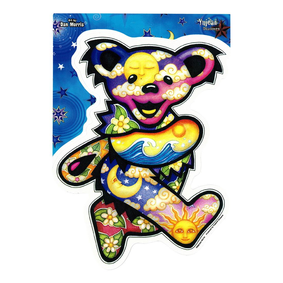Sun Moon Jumbo Bear Sticker