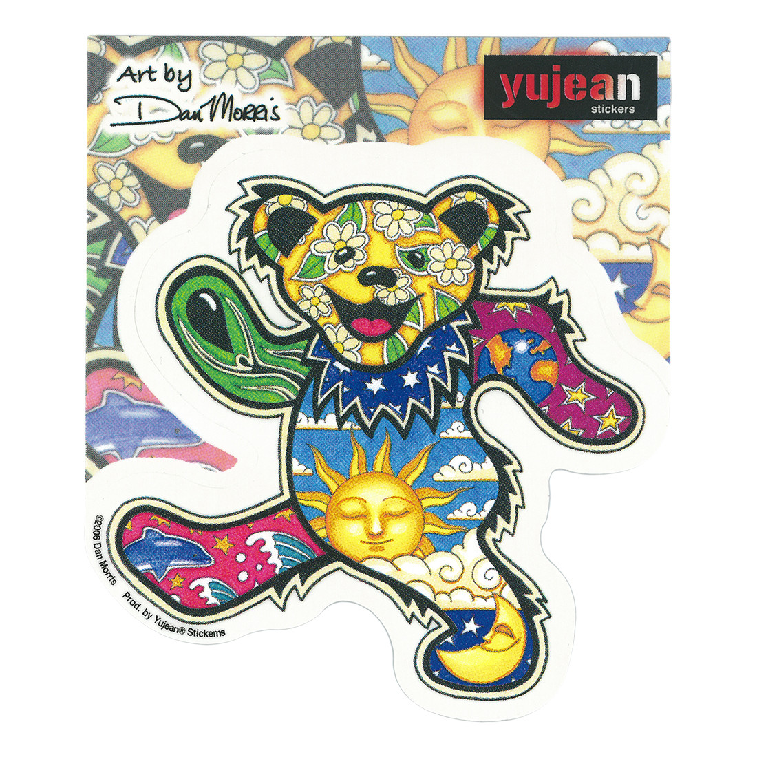 Psychedelic Bear Sticker