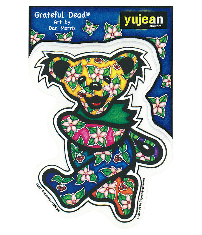 Grateful Dead Tropical Bear Sticker Liquid Blue