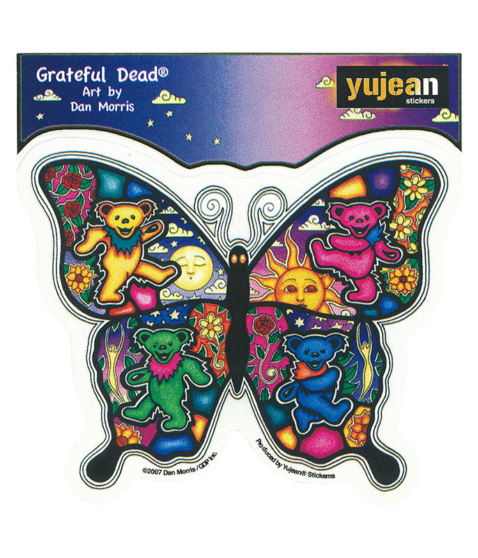 Grateful Dead Psychedelic Butterfly Sticker Liquid Blue