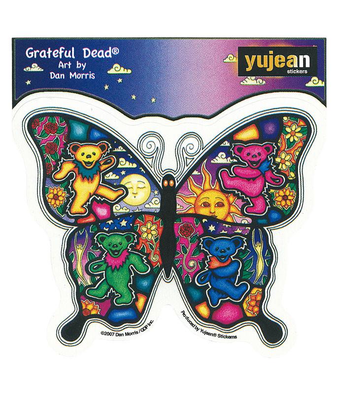 Grateful Dead Psychedelic Butterfly Sticker Liquid Blue