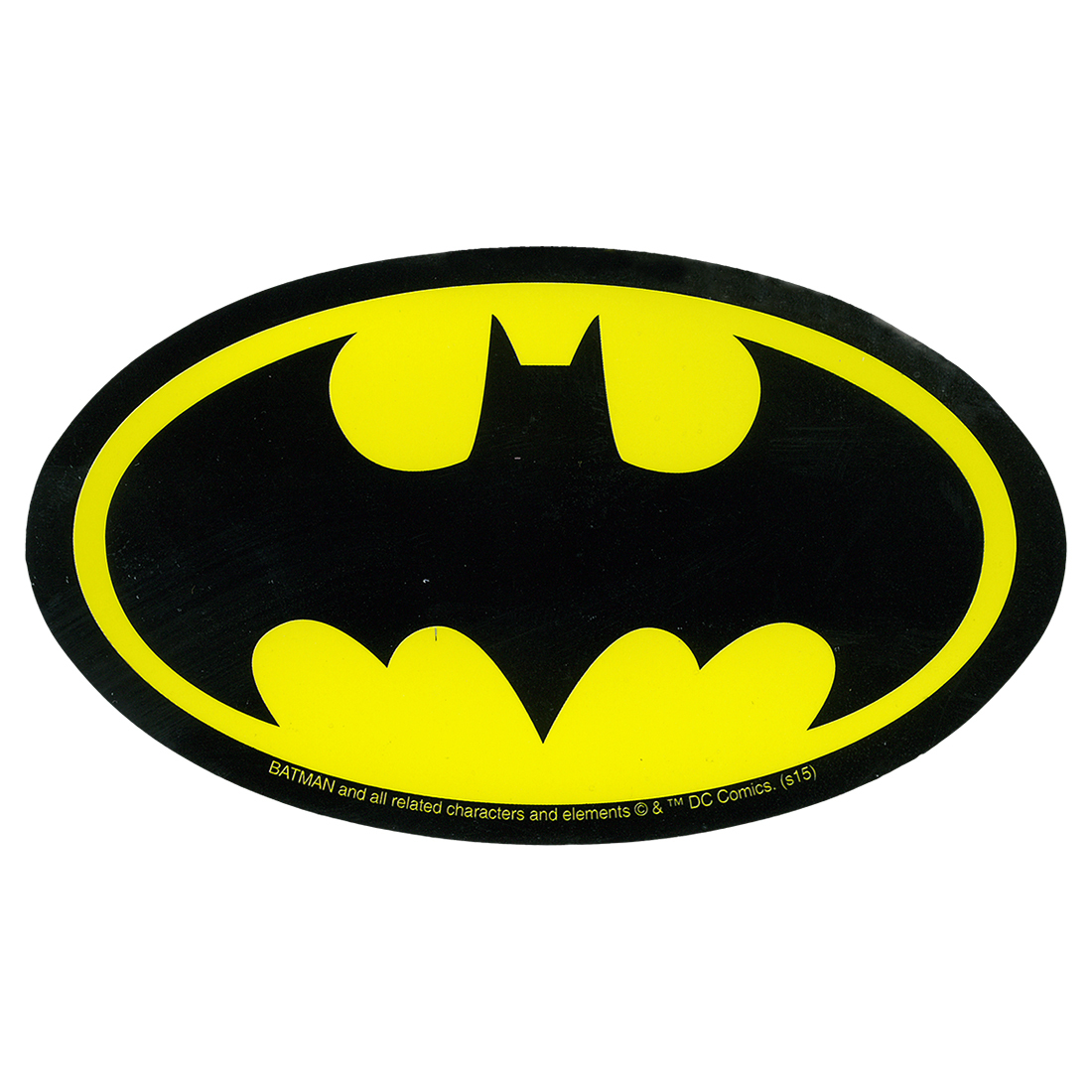 Free Comic Book Day Logo: Batman Logo Sticker Liquid Blue