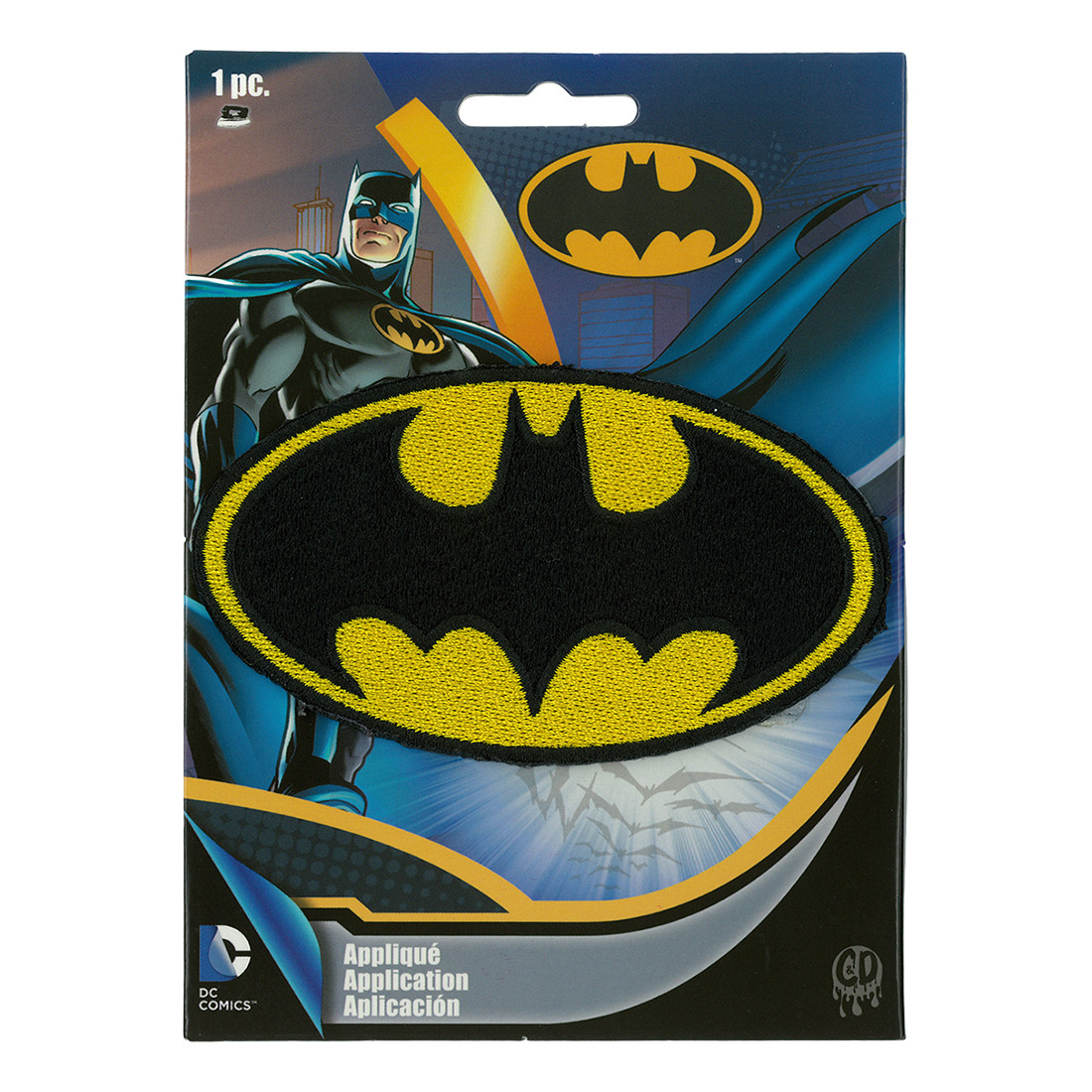Free Comic Book Day Logo: Batman Logo Patch Liquid Blue