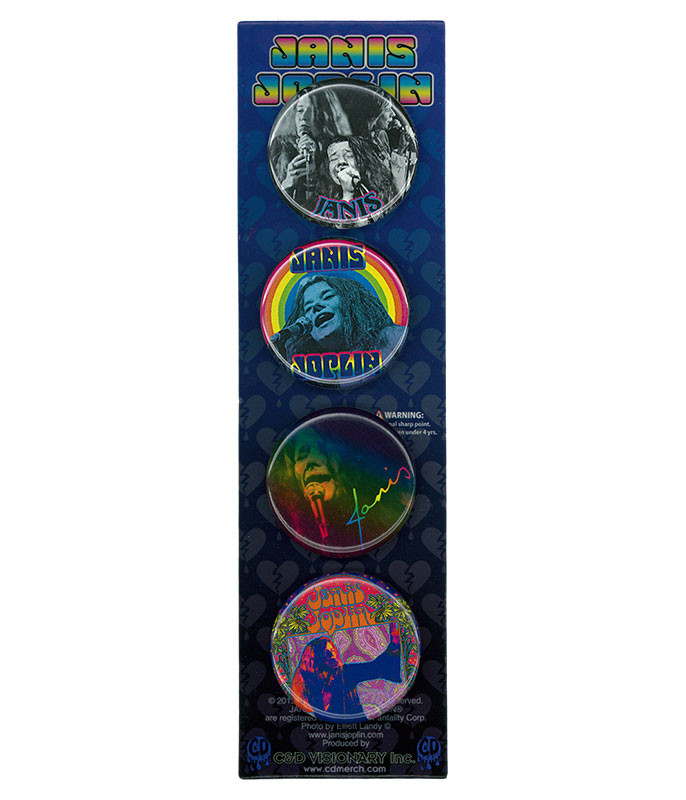 Janice Joplin 4 Pin Set