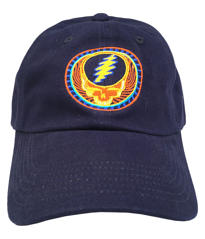 Grateful Dead GD Orange Sunshine Navy Baseball Cap