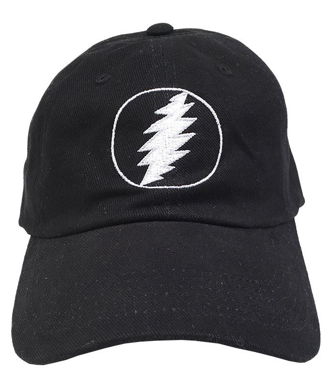 GD Lightning Bolt Black Baseball Cap