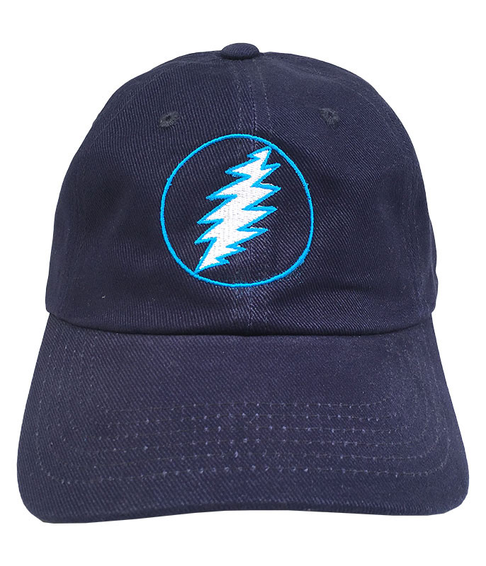 Grateful Dead GD Lightning Bolt Navy Baseball Cap