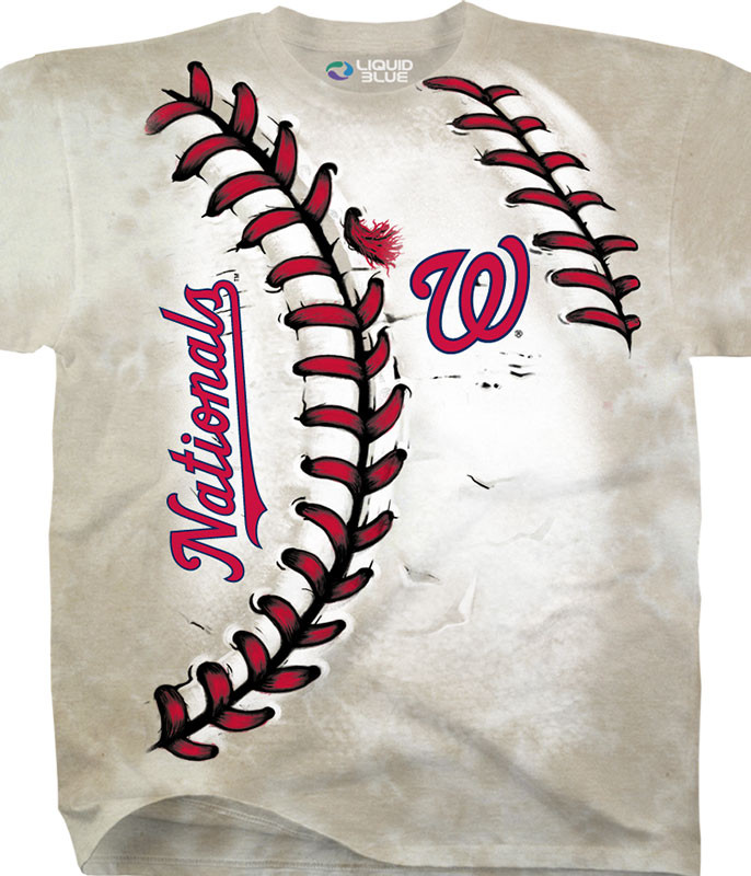 MLB Washington Nationals Youth Hardball Tie-Dye T-Shirt Tee Liquid Blue
